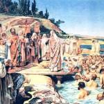 Кл. Лебедев. Крещение киевлян