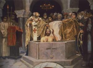 Виктор Васнецов Крещение князя Владимира. Фрагмент росписи Владимирского собора в Киеве